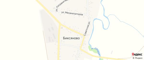 Улица Механизаторов на карте деревни Биксяново с номерами домов