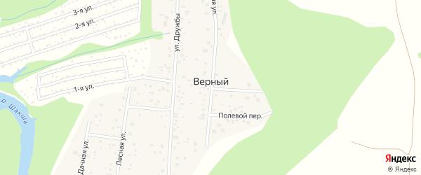 Лесная улица на карте деревни Верного с номерами домов