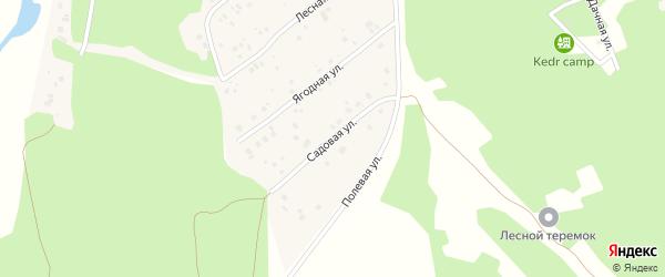 Садовая улица на карте села Охлебинино Башкортостана с номерами домов