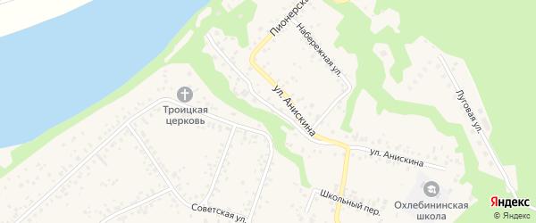 Улица Победы на карте села Охлебинино с номерами домов