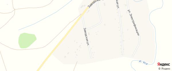 Заводская улица на карте села Бедеевой Поляны с номерами домов