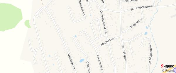 Ольховая улица на карте села Иглино Башкортостана с номерами домов
