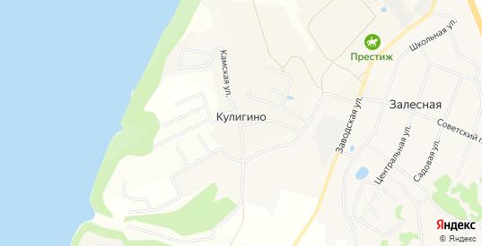 Карта деревни Кулигино в Добрянке с улицами, домами и почтовыми отделениями со спутника онлайн