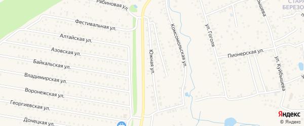 Южная улица на карте села Иглино с номерами домов