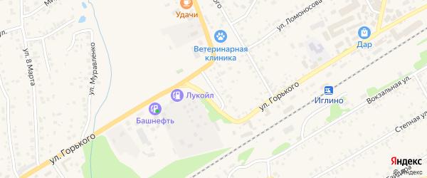 Улица Жукова на карте села Иглино с номерами домов