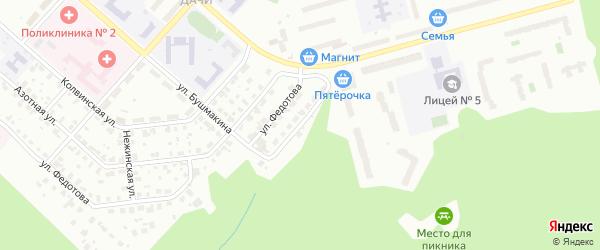 Белорецкая улица на карте Перми с номерами домов