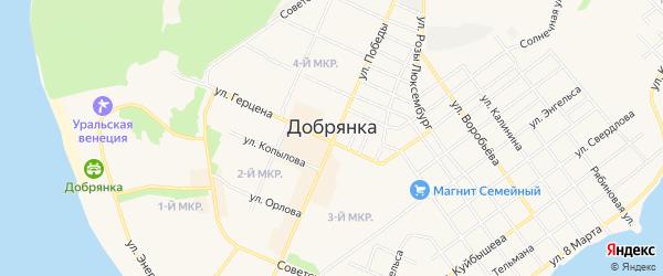 ГСК Темп на карте Добрянки с номерами домов