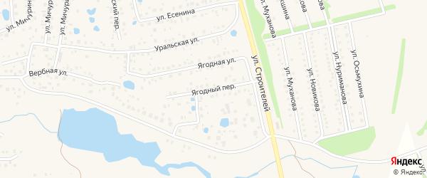 Ягодный переулок на карте села Иглино с номерами домов