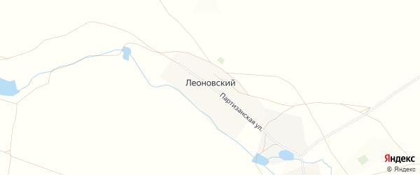 Карта деревни Леоновского в Башкортостане с улицами и номерами домов