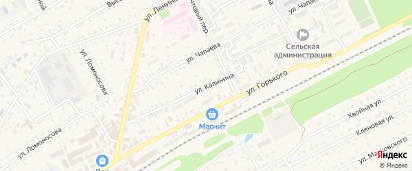 Улица Калинина на карте села Иглино с номерами домов