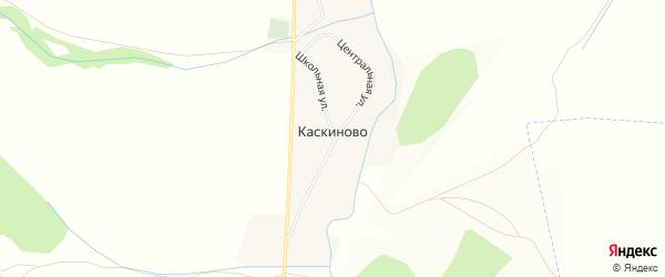 Карта деревни Каскиново в Башкортостане с улицами и номерами домов