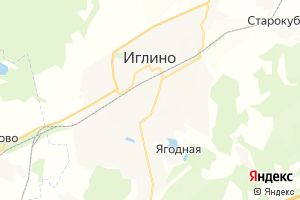 Карта с. Иглино Республика Башкортостан