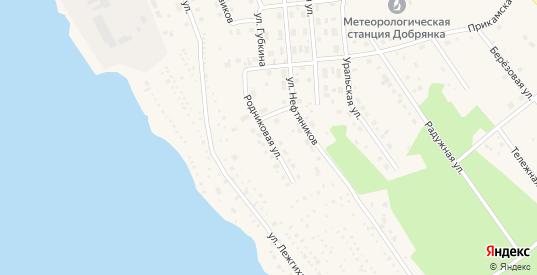 Родниковая улица в деревне Шкарята в Добрянке с номерами домов на карте. Спутник и схема онлайн
