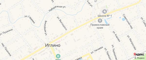Улица Возрождения на карте села Иглино с номерами домов