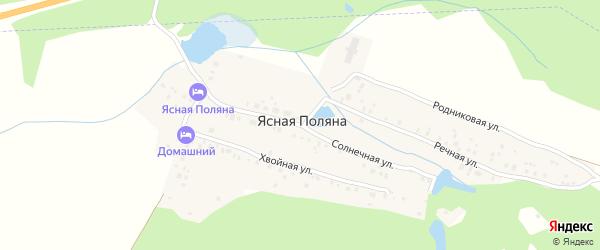 Речная улица на карте деревни Ясной Поляны Башкортостана с номерами домов