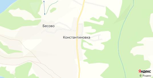 Карта деревни Константиновка в Добрянке с улицами, домами и почтовыми отделениями со спутника онлайн