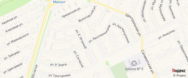 Улица Лесотехникума на карте села Иглино с номерами домов