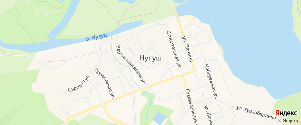 Территория база отдыха Нугуш на карте Мелеузовского района Башкортостана с номерами домов