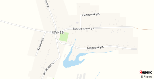 Проезд Фрунзе в Октябрьском с номерами домов на карте. Спутник и схема онлайн