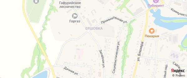 Западная улица на карте села Красноусольского с номерами домов