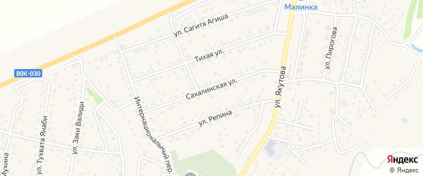 Сахалинская улица на карте села Иглино с номерами домов