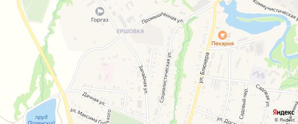 Западный переулок на карте села Красноусольского Башкортостана с номерами домов