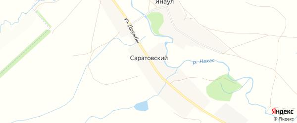Карта Саратовского хутора в Башкортостане с улицами и номерами домов