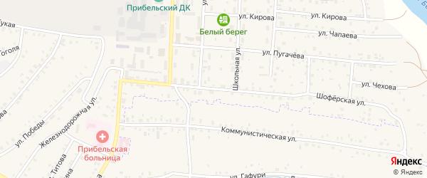 Шоферская улица на карте села Прибельского с номерами домов