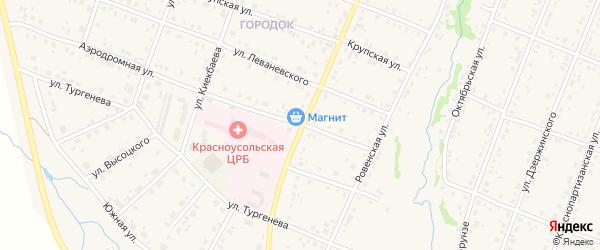 Улица Гагарина на карте села Красноусольского с номерами домов