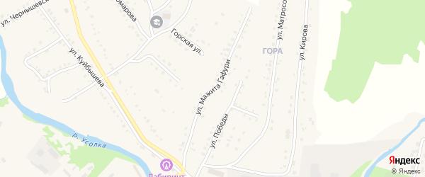 Улица М.Гафури на карте села Красноусольского с номерами домов
