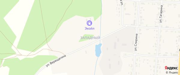 Западный микрорайон на карте Чердыни с номерами домов