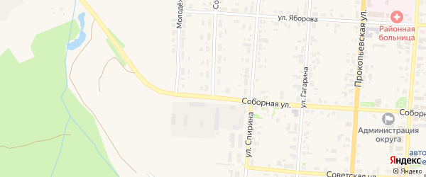Совхозная улица на карте Чердыни с номерами домов
