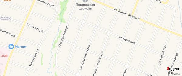 Улица Дзержинского на карте села Красноусольского с номерами домов