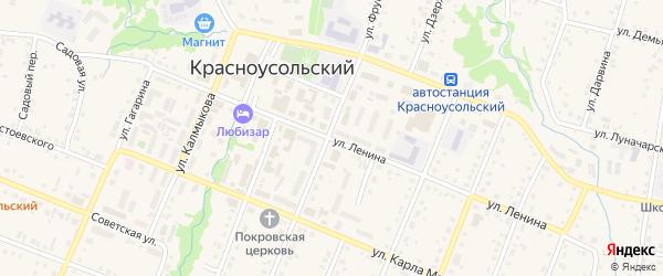 Улица Ленина на карте села Красноусольского с номерами домов