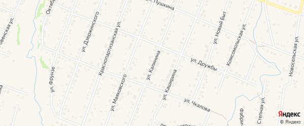 Улица Калинина на карте села Красноусольского с номерами домов