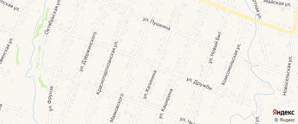 Улица Дружбы на карте села Красноусольского Башкортостана с номерами домов