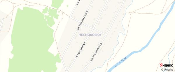 Северная улица на карте села Красноусольского Башкортостана с номерами домов