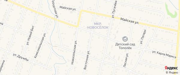 Восточная улица на карте села Красноусольского с номерами домов