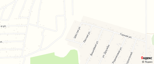 6-я улица на карте села Старокубово с номерами домов