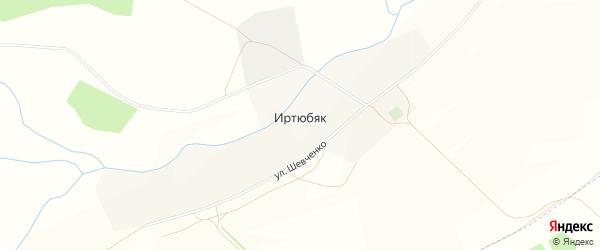 Карта деревни Иртюбяка в Башкортостане с улицами и номерами домов