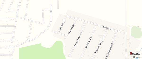 Лесная улица на карте села Старокубово Башкортостана с номерами домов