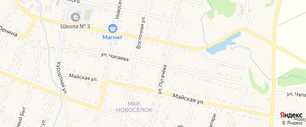 Улица Чапаева на карте села Красноусольского с номерами домов