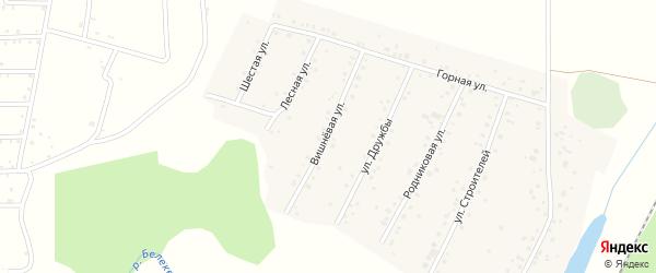 Вишневая улица на карте села Старокубово Башкортостана с номерами домов
