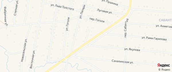 Улица Заки Валиди на карте села Красноусольского с номерами домов