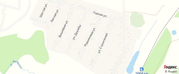Родниковая улица на карте села Старокубово Башкортостана с номерами домов