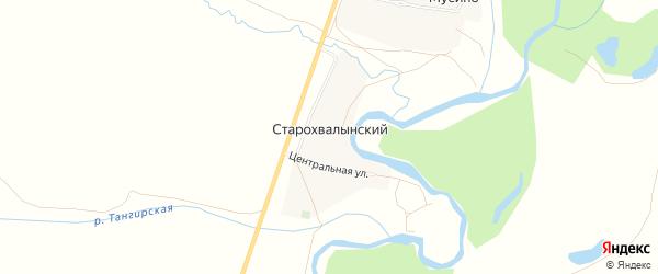 Карта Старохвалынского хутора в Башкортостане с улицами и номерами домов