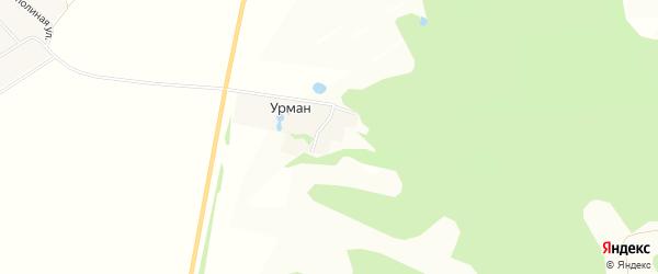 Карта деревни Урмана в Башкортостане с улицами и номерами домов