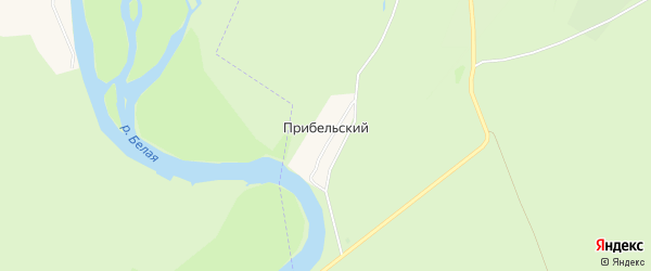 Карта Прибельского хутора в Башкортостане с улицами и номерами домов