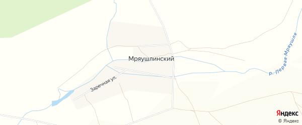Карта деревни Мряушлинского в Башкортостане с улицами и номерами домов