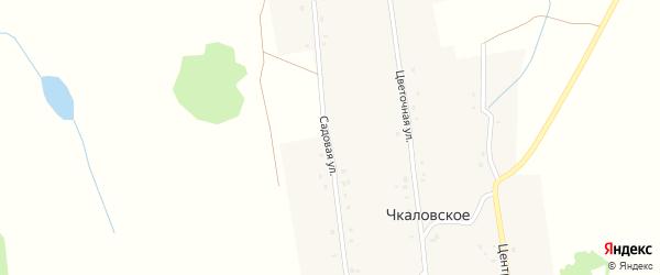 Садовая улица на карте деревни Чкаловского Башкортостана с номерами домов
